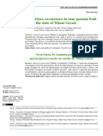 Azamora penicillana occurrence in sour passion fruit in the state of Minas Gerais