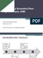 Unidad V La Economía Post-Trujillista hasta 1980