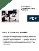 1. Evidencia y procedimientos de auditoría