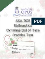 Magnum Opus Sea Mathematics Dec Eot Practice Test 2021