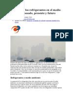 EFECTO INVERNADERO   Impacto de los refrigerantes en el medio ambiente