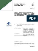 NTC-2871 MÉTODO DE ENSAYO PARA DETERMINAR LA RESISTENCIA ULTIMA.pdf