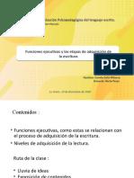 Funciones ejecutivas y etapas de adquisicion de la escritura