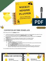 Weekly Mindme Planner by Slidesgo