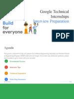 Preparing for Google Technical Internship Interviews