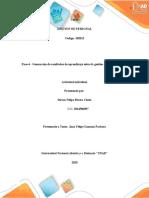 Guía de actividades y rúbrica de evaluación - Paso 4 - Generación de resultados de aprendizaje sobre la gestión de talento humano