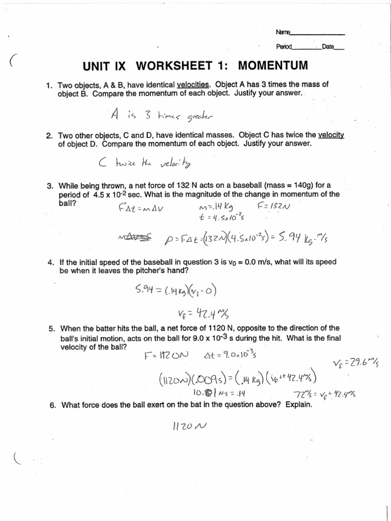 wsanswers – Force Mass X Acceleration Worksheet