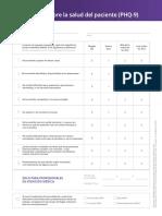 Cuestionario - Salud Del Paciente PHQ-9 RESULTADOS