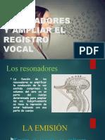 diapositiva los resonadores canto y musica