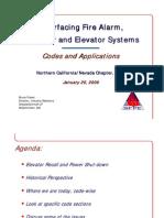 Interfacing Fire Alarm - Elevators