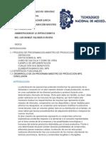 PROCESO DE PROGRAMACION MAESTRO DE PRODUCCION