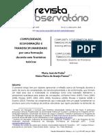 Complexidade, Ecoformacao e Transdisciplinaridade por uma formacao docente sem fronteiras teoricas - Maria Jose de Pinho e Vania Maria de Araujo Passos