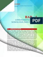 Bab 4 - Landasan Filosofis, Sosiologis, Dan Yuridis (KSP)