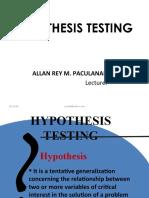 Hypothesis-Testing