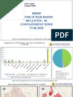 Covid_Bengaluru_27June_2020 Bulletin-96 Containment Zone