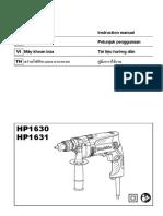 Hammer Drill HP1631-HP1630 Instruction Manual