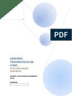 ACTIVIDAD 20 LESIONES TRAUMATICAS DE CODO