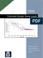2016 Colorado Design Snow Loads