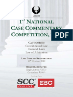 1st National Case Comment Writing Competition, 2020-1