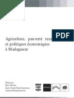 Agriculture pauvreté rurale et Politiques Economiques a Madagascar