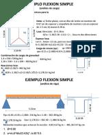 EJEMPLO FLEXION SIMPLE 01