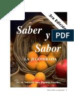 LIBRO SABER Y SABOR La jugoterapia