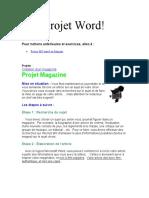 Projet word '' Un article''