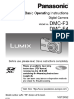 Lumix DMC-F3 manual
