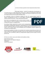 Brief Uneingeschränkter Zugriff auf deutsche Inhalte im Internet
