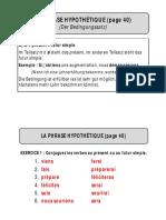 Pages 40 à 44 - Phrase hypothétique