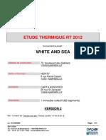 Étude Thermique Rt12 - White and Sea - Nexity - V3
