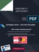 DRAFT ENGLISH 6 APE GUIDE