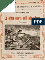 Baldi, Giovanni – La prima Guerra dell'Independenza