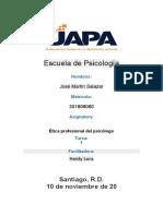 Tarea   8   Ética profesional del psicólogo Jose Martin Salazar