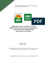 Diretrizes Para Certificacao Ibd