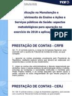 Normas e Procedimentos para Formalização da Prestação de Contas