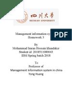 Management information system 3