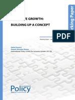 INCLUSIVE GROWTH BUILDING UP A CONCEPT Rafael Ranieri and Raquel Almeida Ramos
