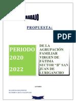 PLAN DE TRABAJO DE LA DE AGRUPACIÓN EN CONSTRUCCION GENERAL