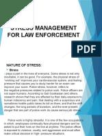 STRESS MANAGEMENT FOR LAW ENFORCEMENT FINAL