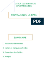 HYDRAULIQUE DE BASE