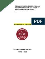 Protocolo de Bioseguridad Construcción