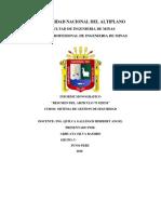 TRABAJO  SISTEMA DE GESTION