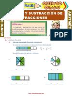 Adición-y-Sustracción-de-Fracciones-para-Quinto-Grado-de-Primaria