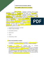 ACTA DE SOCIEDAD ANONIMA O.K.