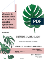 Actividad N. 2 Soluciones Ambientales, Ecopedagogía
