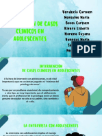 INTERVENCIÓN CLÍNICA EN ADOLESCENTES.