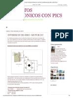 PROYECTOS ELECTRONICOS CON PICS_ INVERSION DE GIRO_ MOTOR DC