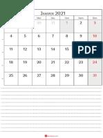 Calendrier Janvier 2021 Québec_4