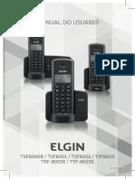 Manual Do Usuario - Telefone Fixo Sem Fio Elgin - TSF-8002